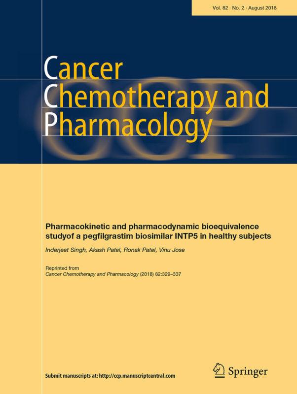 [SINGH]---reprint-eng---pegfilgrastim---Cancer-Chemotherapy-and-Pharmacology---Springer_ver_druk-1